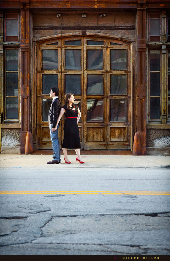old hollywood style chicago engagement photographer vintage