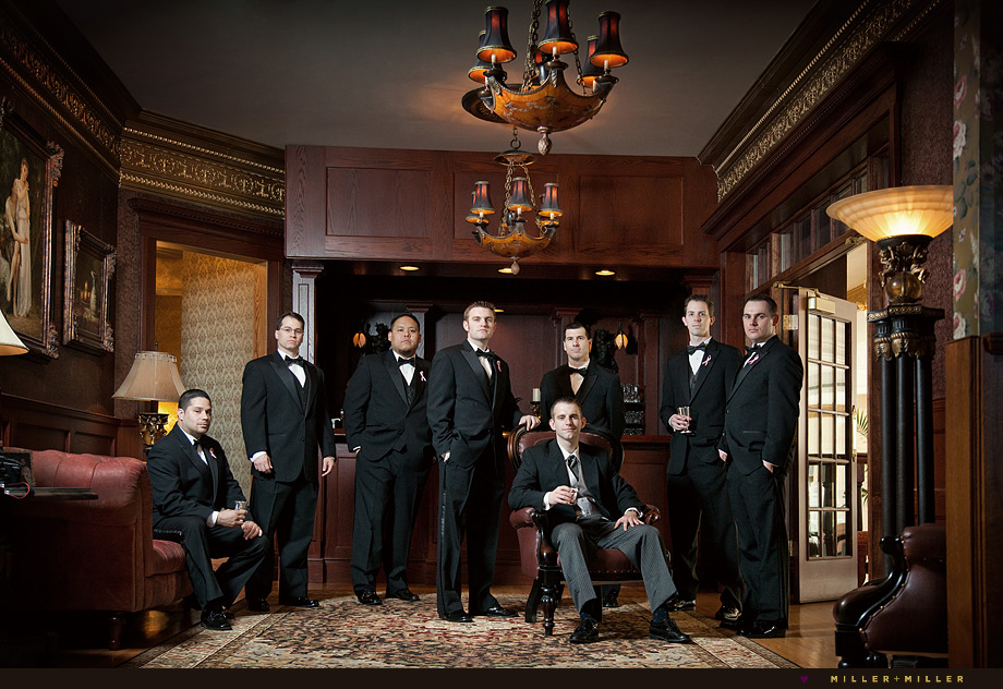 patrick haley bar groomsmen tux high-end wedding photography