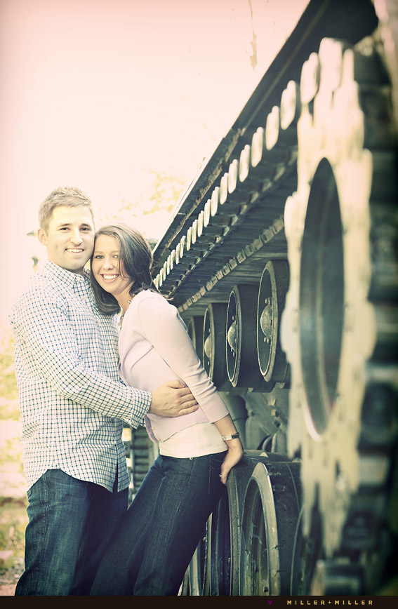 tank museum wheaton engagement portraits
