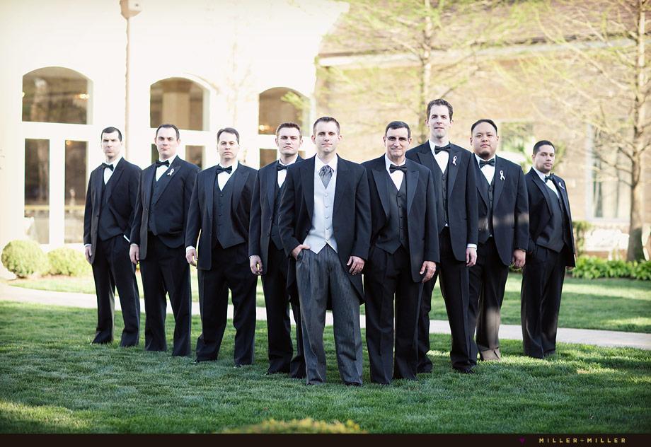the herrington inn geneva wedding photographer groomsmen group