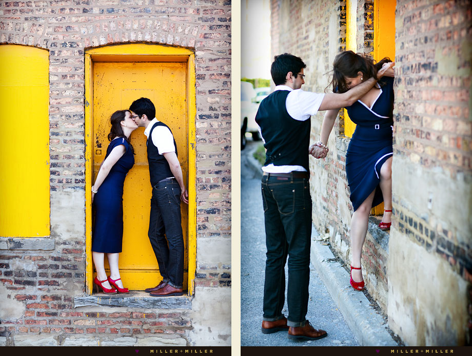 yellow door chicago illinois portrait photographer
