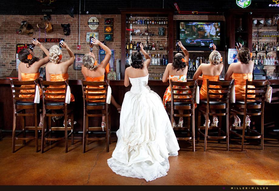 beer bar bridesmaids St Charles wedding illinois