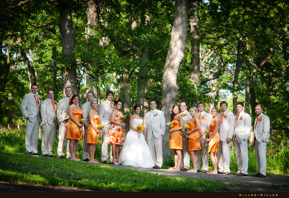 Outdoor Woods Wedding Ceremony: Sean + Stephanie = Married!! Illinois Chicago Area Outdoor