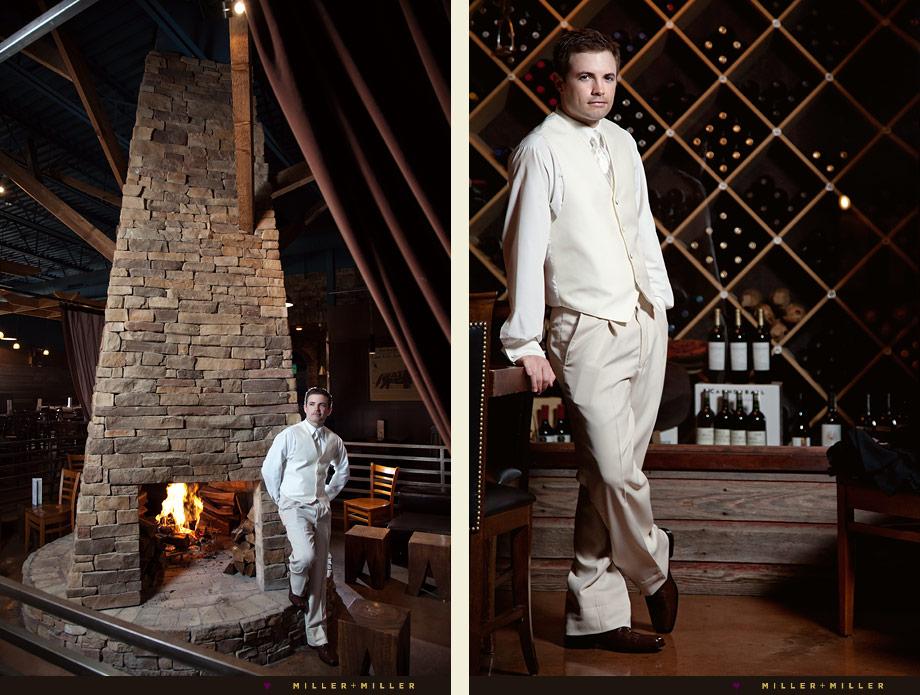 chicago barn wedding illinois groom wine cellar pictures