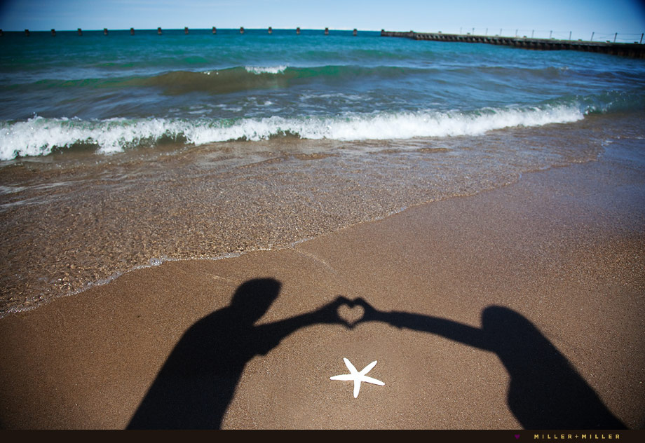 Chicago Florida beach engagement photographer heart in sand