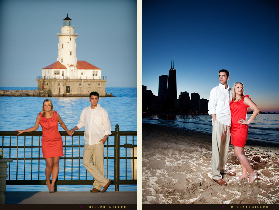 chicago harbor lighthouse wedding engagement photographer