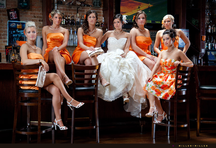 high-fashion bridal party wedding photographer