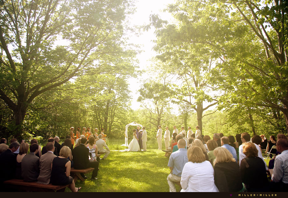 Sean stephanie married illinois chicago area outdoor for Beautiful gardens to get married in