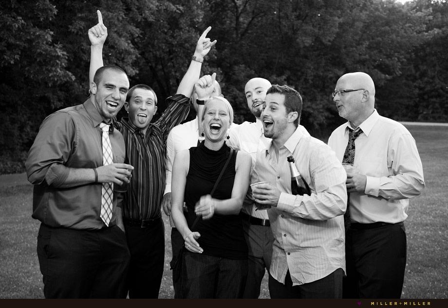 outdoor illinois wedding reception guest photos