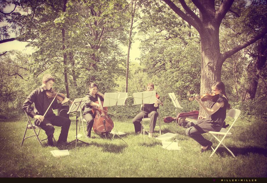 string quartet chicago wedding outdoor ceremony