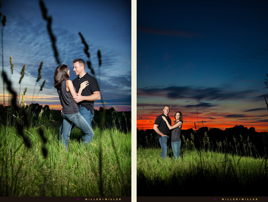 amazing sunset couple photography