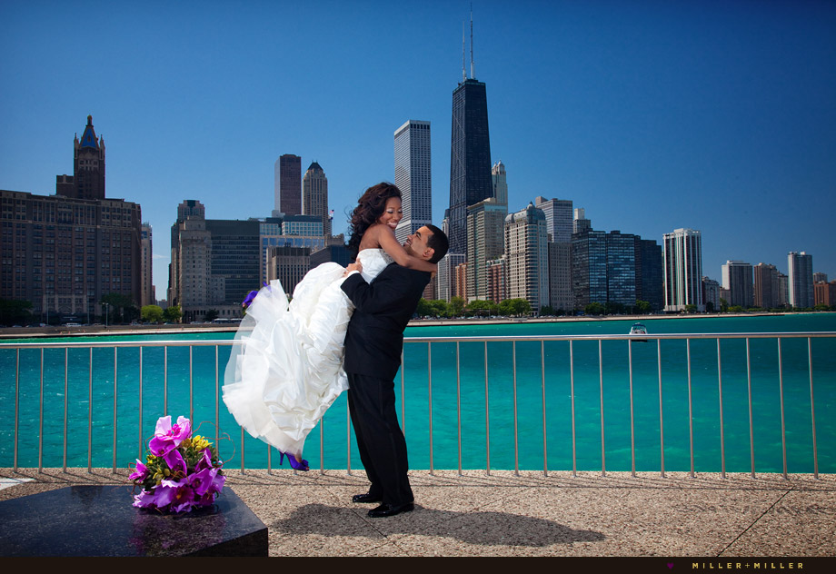 Chicago beach wedding