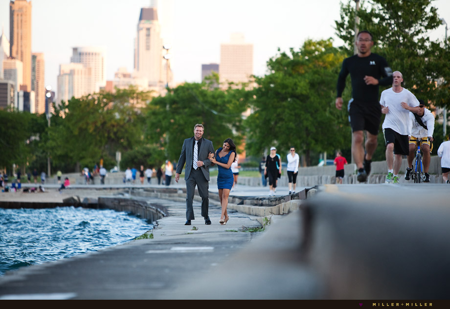 Chicago lakeshore engagement photography