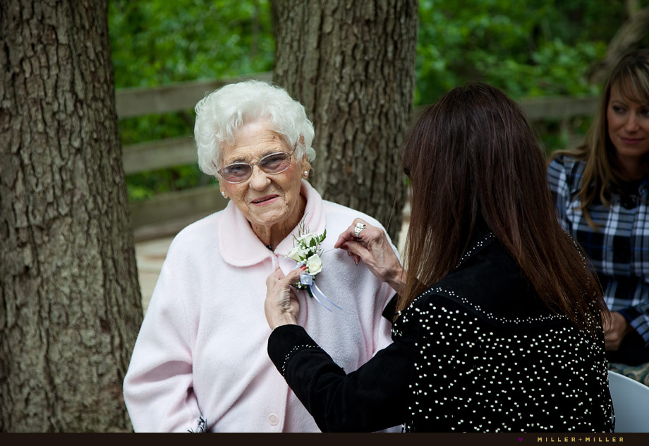 flower corsage grandma wedding day