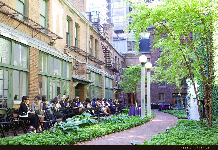 river north outdoor courtyard ceremony