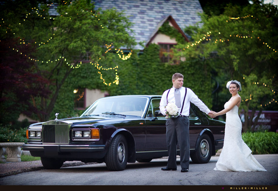 rolls royce chicago winnetka wedding photos