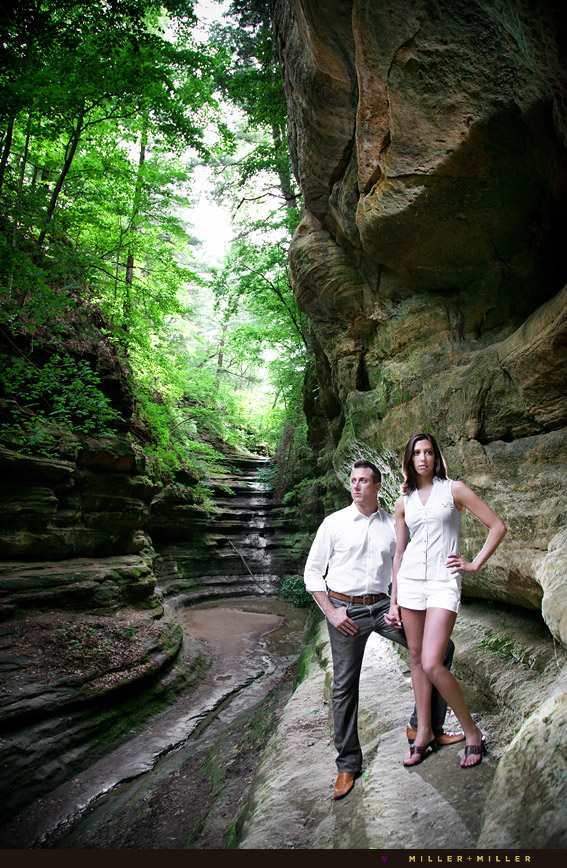 starved rock engagement photography canyon