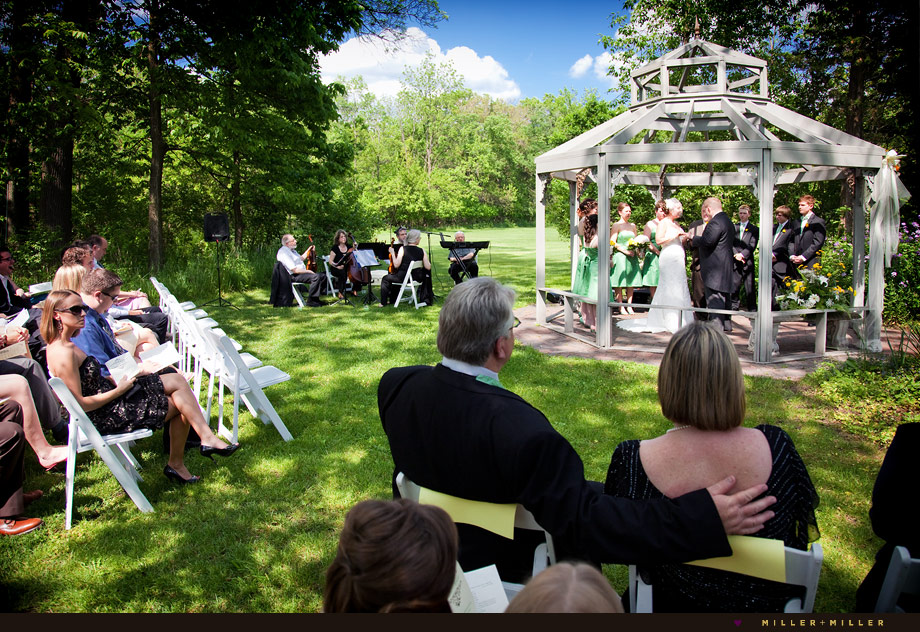 summer outdoor chicago wedding ceremony