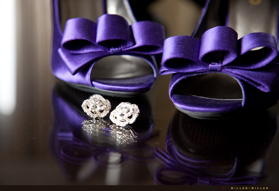 unique bridal shoes and earings