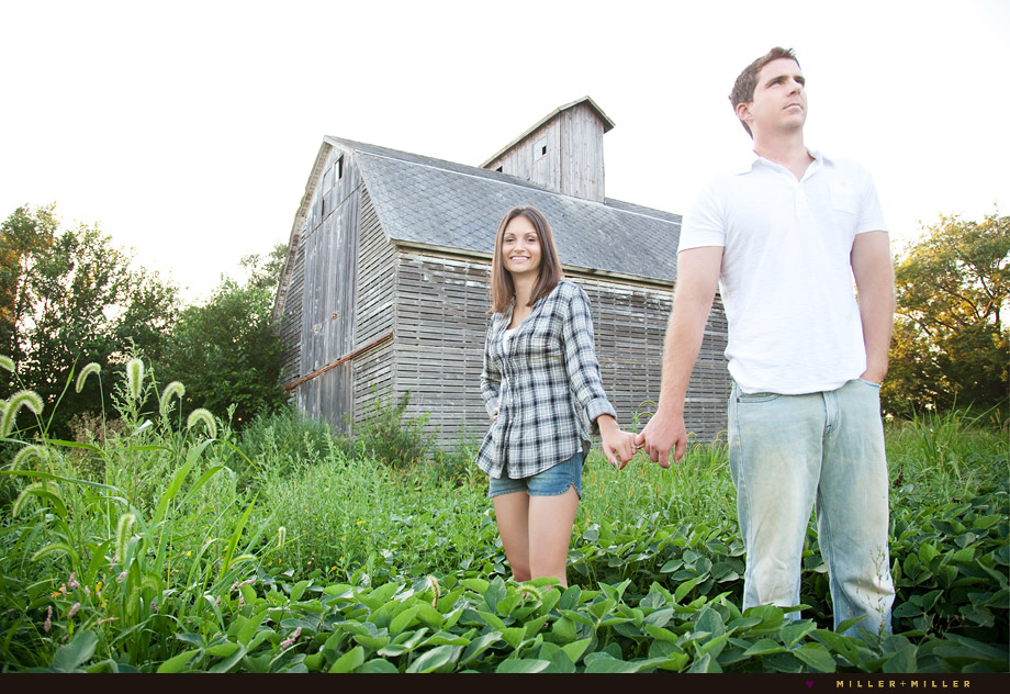 barn engagement photography country farm Chicago area