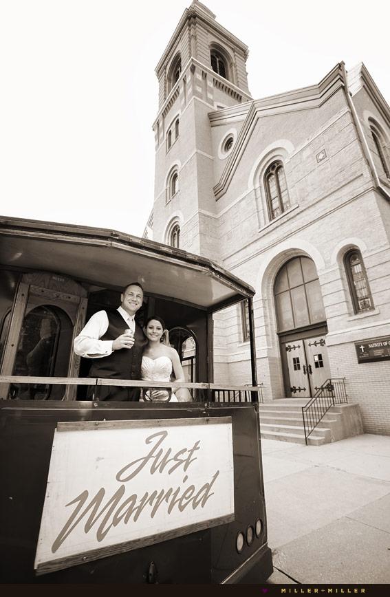 beautiful old Chicago Catholic church wedding