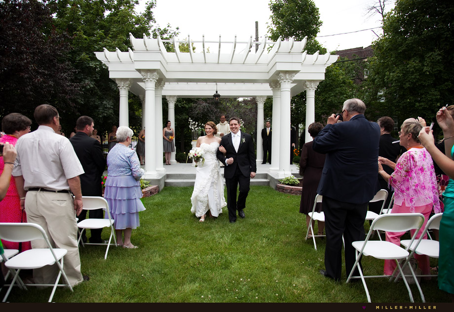 bride groom outdoor ceremony Chicago