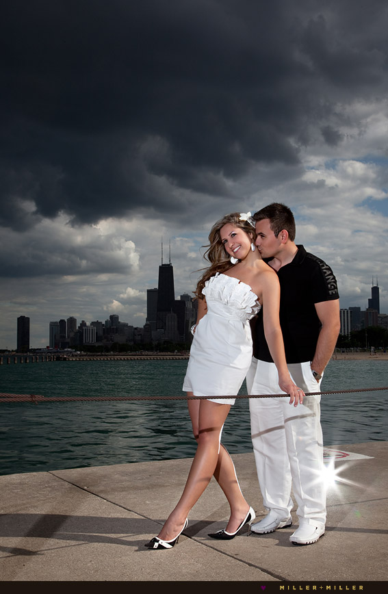 Chicago High Fashion Editorial: Val + Nicole's Chicago High-Fashion Engagement Photography