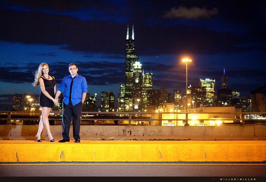 downtown Chicago buildings portrait