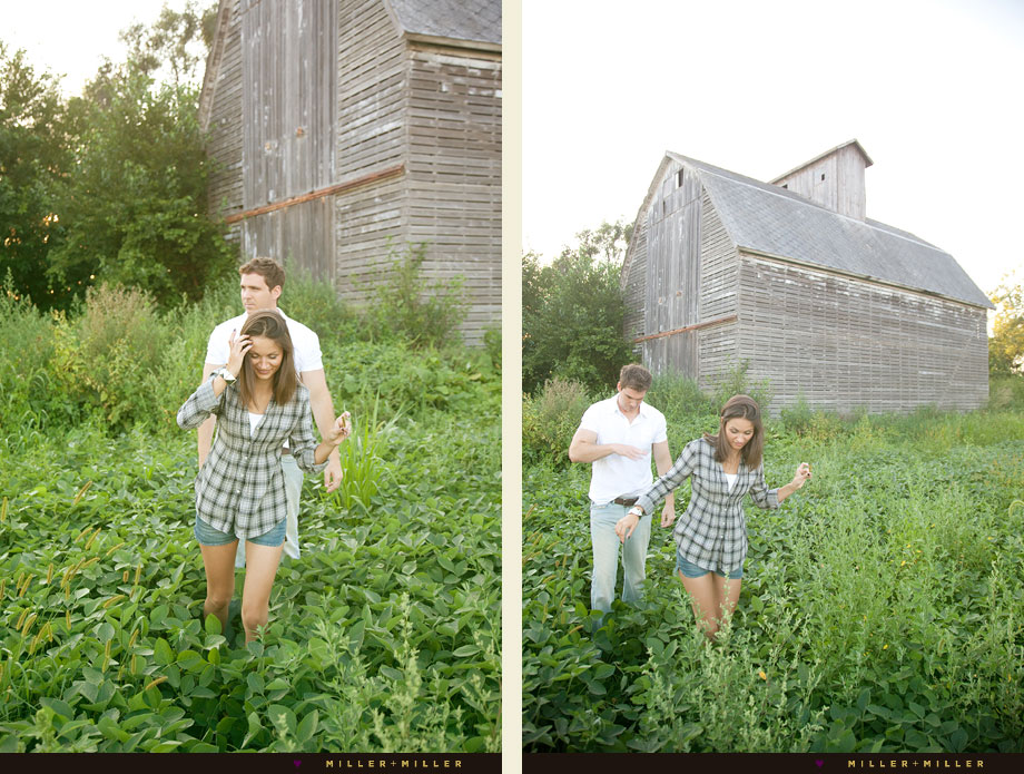 engagement Illinois bean field barn