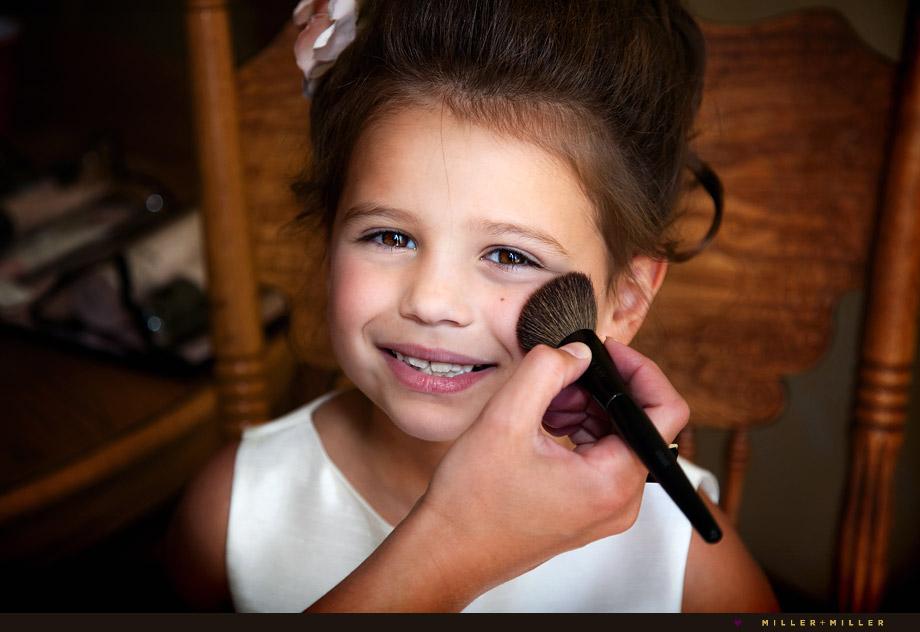 flower girl make-up blush