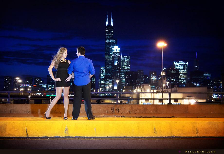 industrial chicago skyline portrait