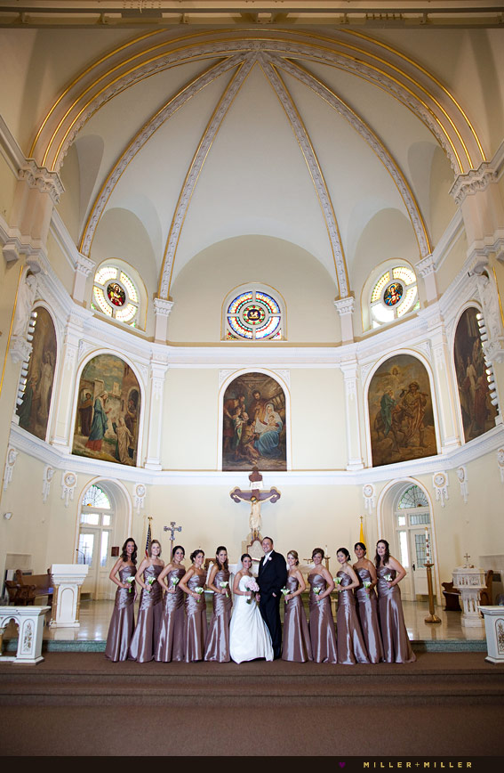 ornate Chicago church wedding photography