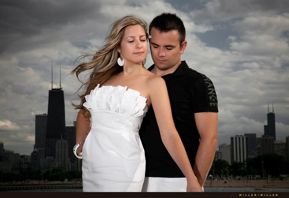 romantic Chicago skyline portraits