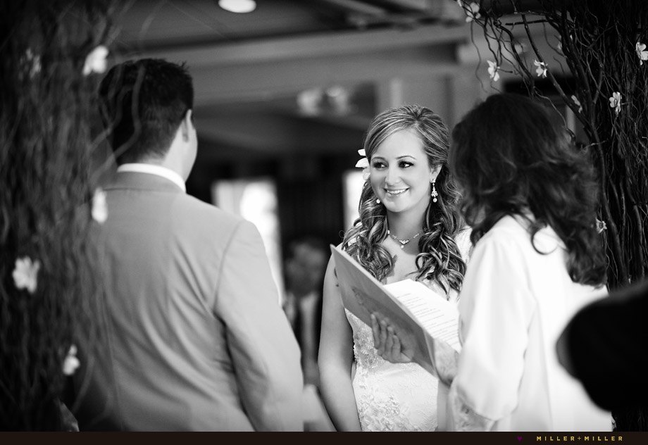black and white ceremony photography
