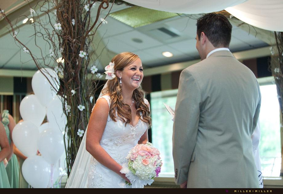 candid bride photo ceremony
