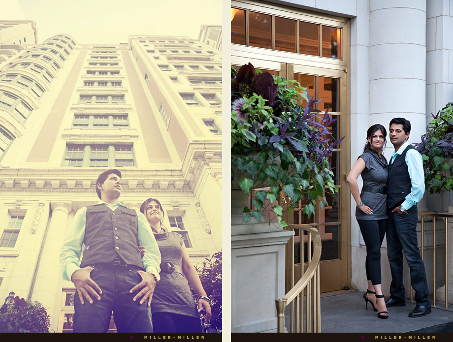 chicago architecture engagement photography