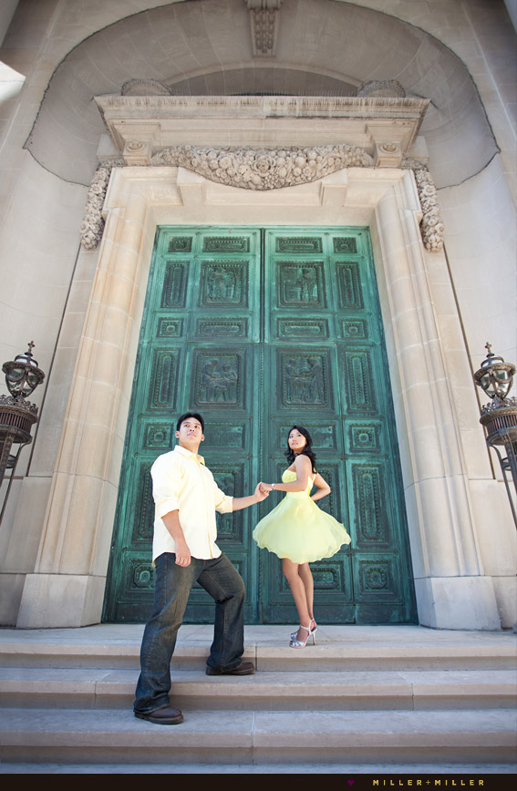 chicago field museum wedding engagement