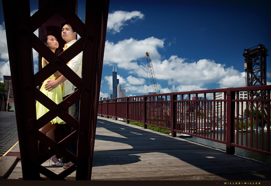 chicago iron bridge engagement image