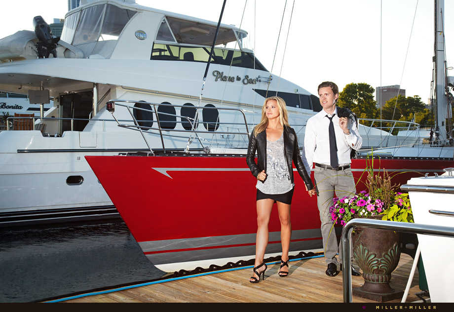 chicago yacht club engagement images
