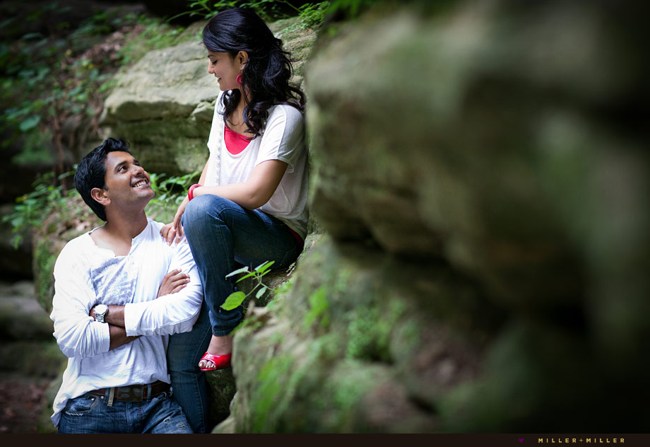 illinois state park canyon engagement images