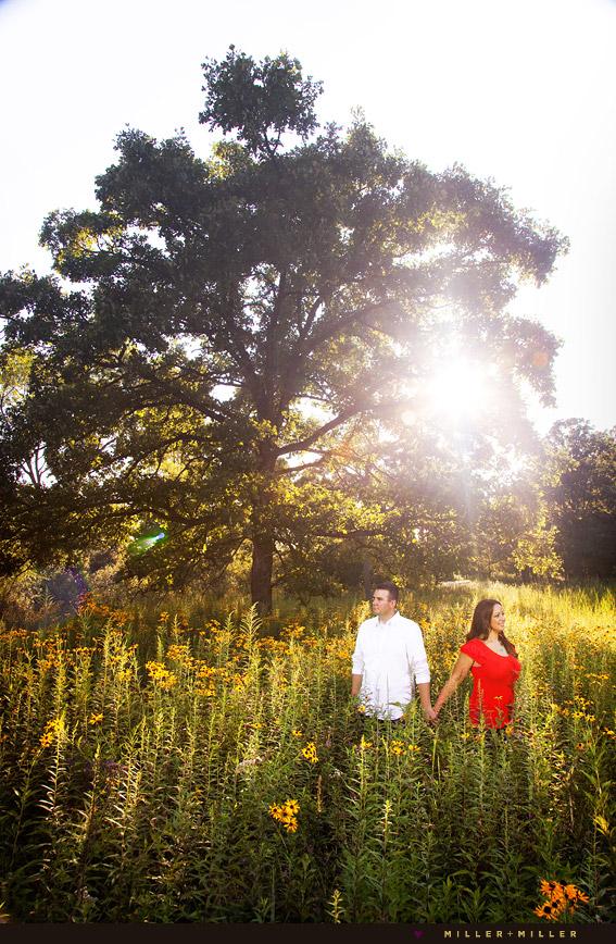 Lake Bluff wedding engagement photography