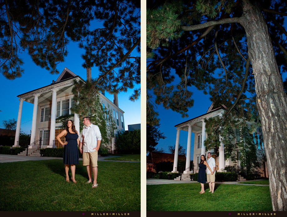 night engagement photos Libertyville