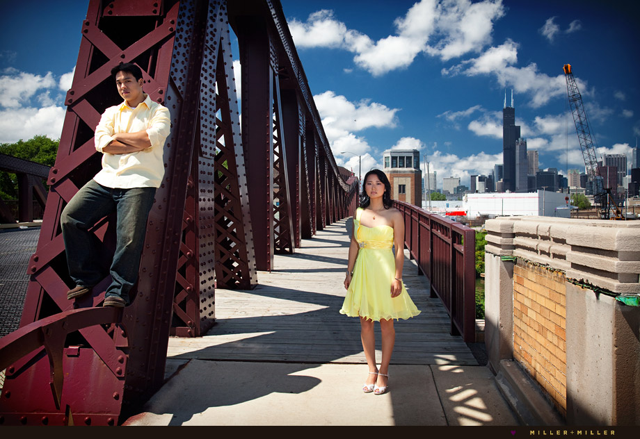 unique chicago engagement skyline