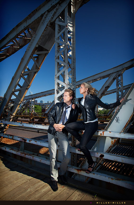 urban high-fashion engagement photographer