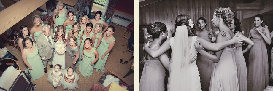 wedding in wisconsin lodge