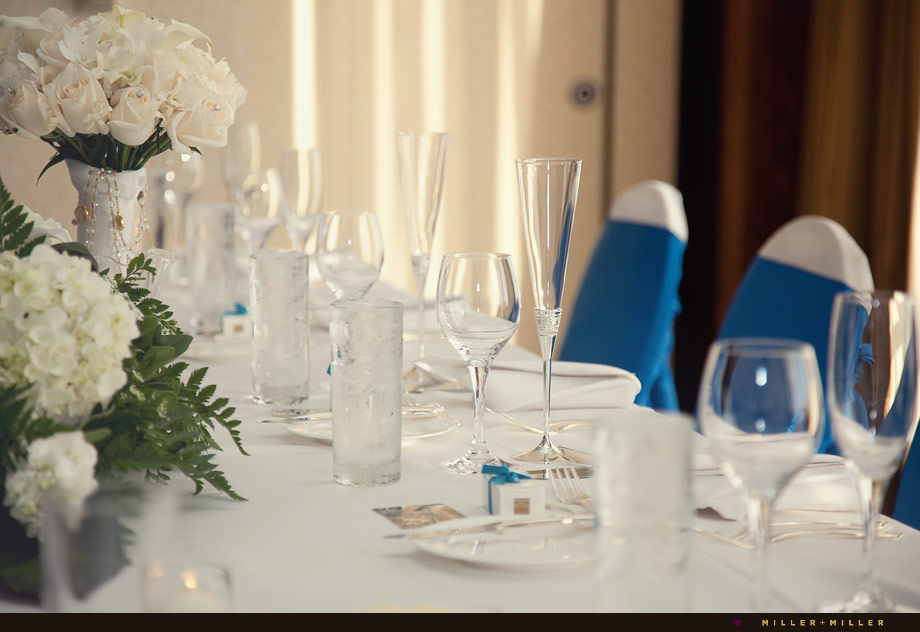 bridal party head table reception dinner