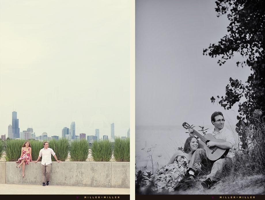chicago beach engagement photos