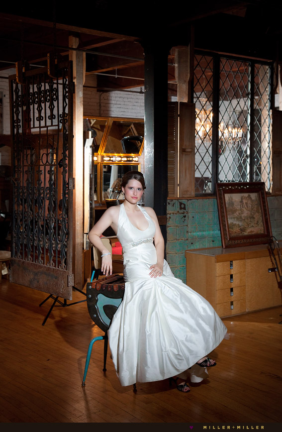 chicago vintage glam bride pictures
