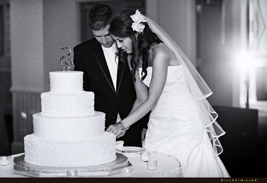 chicago wedding cake cutting