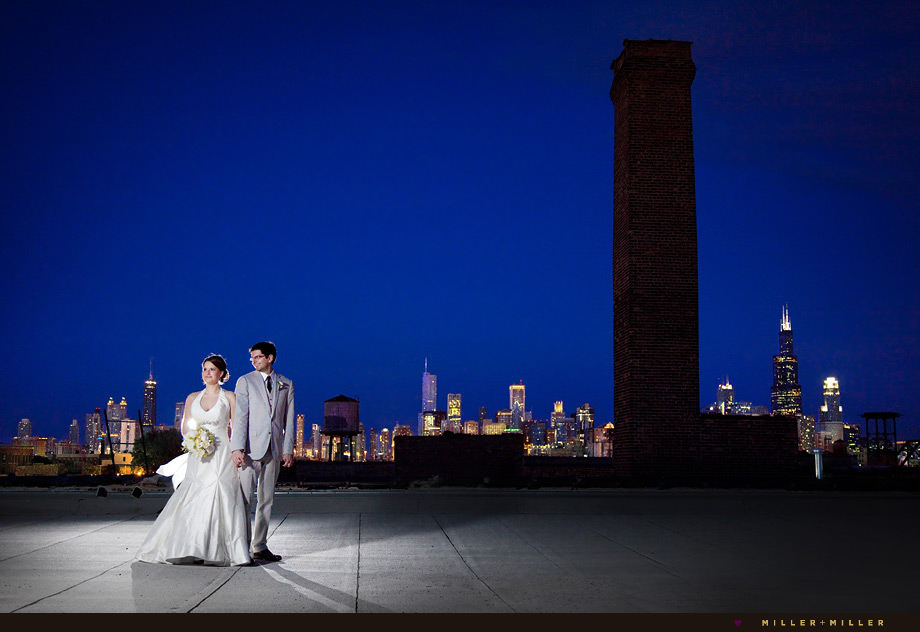 dramatic chicago wedding photography